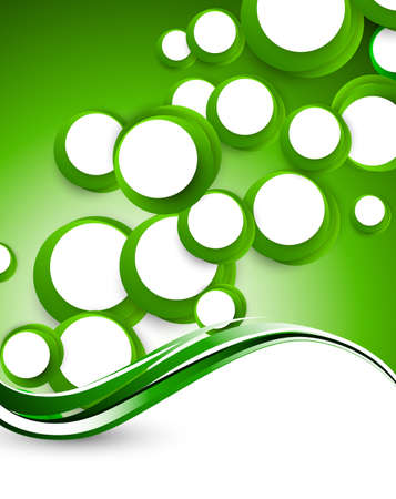 depliant: Abstract background with green circles