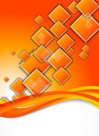Abstract background with orange squares Vector
