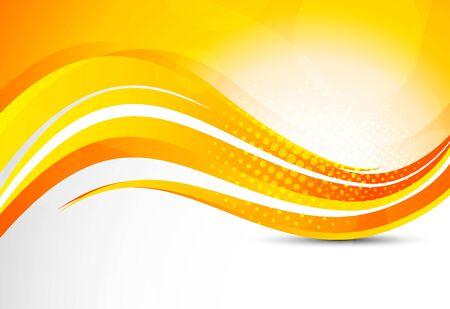 depliant: Abstract orange background  Bright illustration