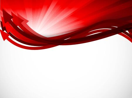 Abstract red background with arrows Vector
