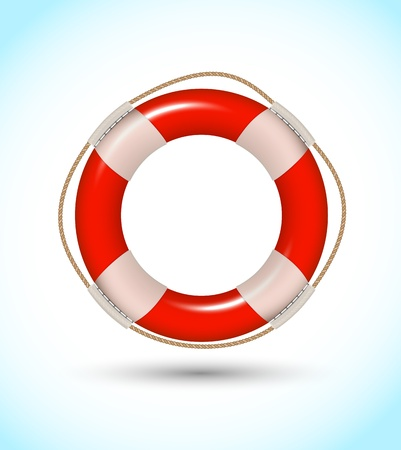 guard ship: Lifebuoy Illustration