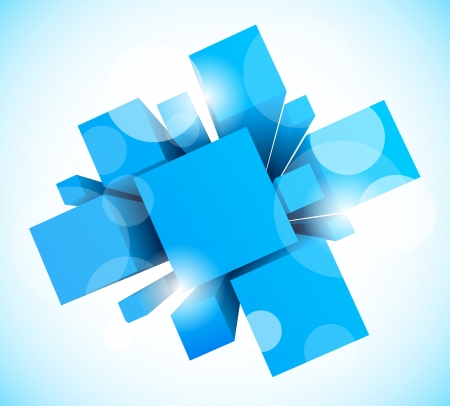 a square: Abstract background with blue squares