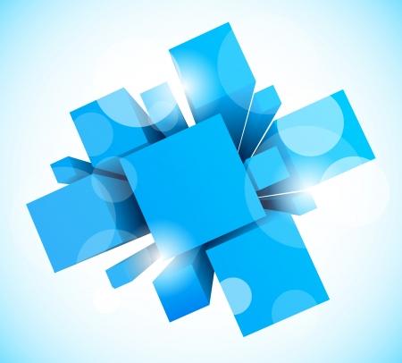 cuadrados: Fondo abstracto con cuadros azules