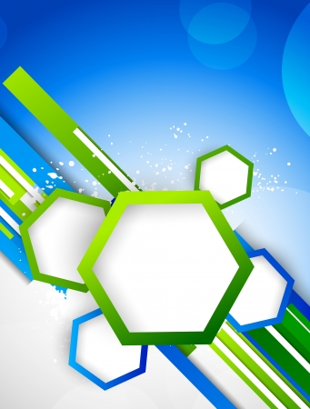 graphic illustration: Abstract background with hexagons