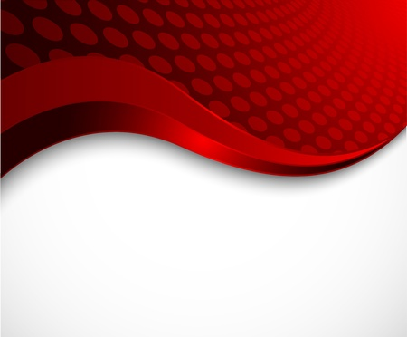 Abstract red wavy background