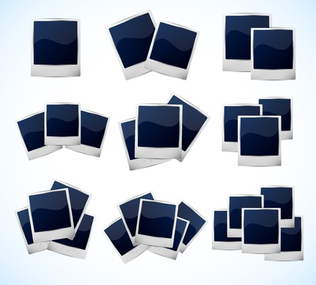 Set of photo frames Illustration