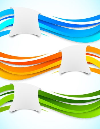 color match: Set of wavy banners  Abstract illustration