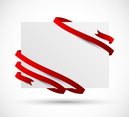 ribbon red: Abstract background with red tape