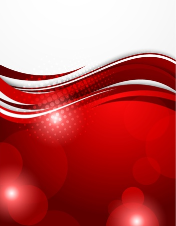 hi tech background: Abstract red background  Bright illustration Illustration