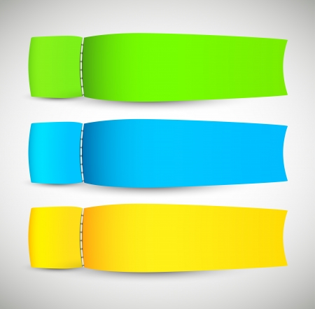 bookmark ribbon: Set of abstract banners  Abstract illustration