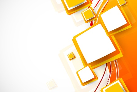 amarillo: Resumen folleto naranja con cuadrados