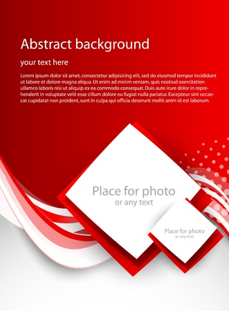 leaflet design: Abstract red background Illustration