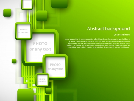 Abstract green brochure