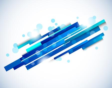 Líneas abstractas en color azul