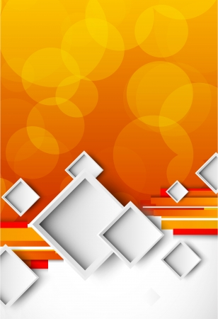 page decoration: Abstract orange brochure with squares