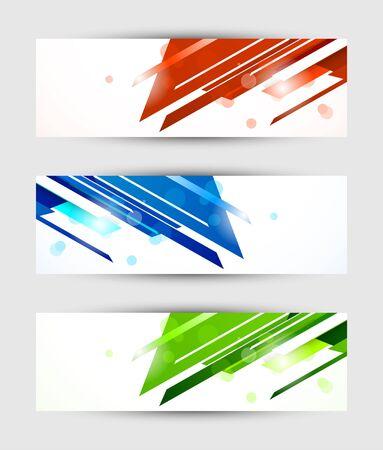 website header banner: Set of abstract tech banners