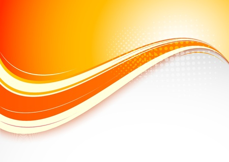brochure: Abstract orange background  Bright illustration
