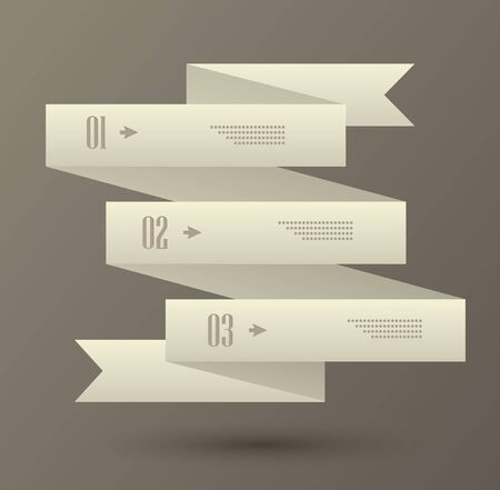 Set of numbered banners  Infographic template