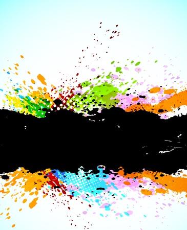 抽象的なグランジ背景。明るいイラスト
