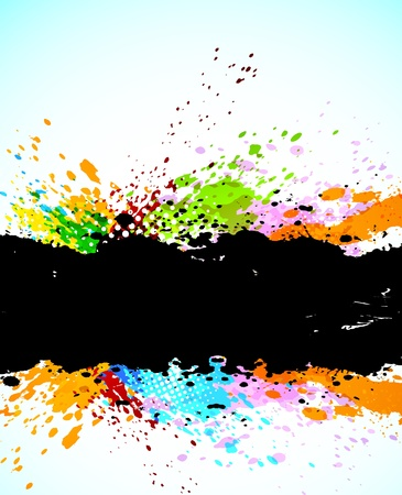 digital paint: Abstract grunge background. Bright illustration