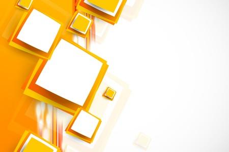 Oranje achtergrond met vierkanten