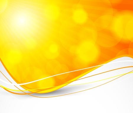Abstract orange background. Bright illustration Vector