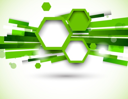 hi tech background: Abstract background in green color