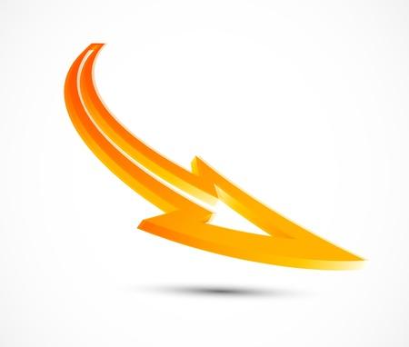 orange arrow: Vector orange arrow. 3d design element