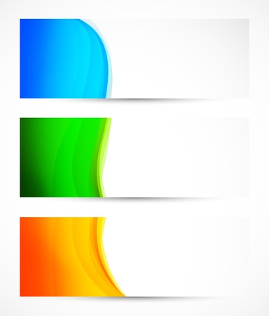 Set of colorful banners. Abstract illustration Stock Vector - 21820907