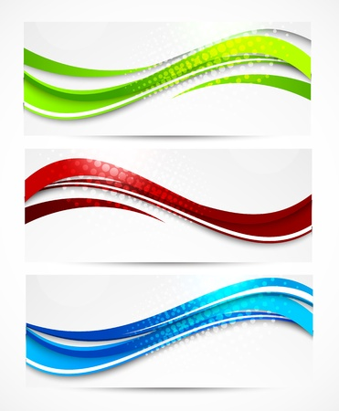 Set of wavy banners. Abstract illustration Illustration