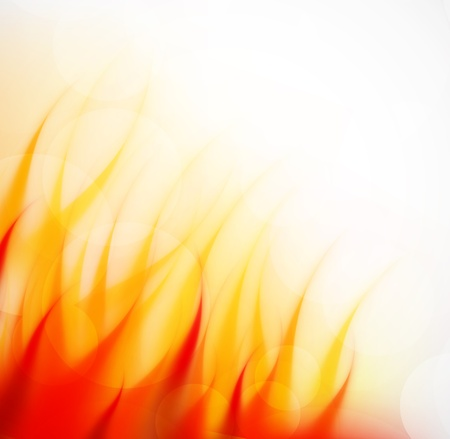 Fire flame. Abstract hot illustration