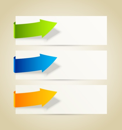 Set of banners with arrows Stock Vector - 22115009