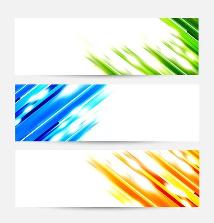lineas rectas: Juego de banderas de rayas. Resumen de la ilustración