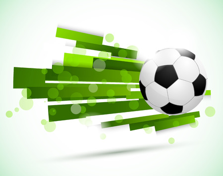 bannière football: Football arrière-plan. Résumé illustration lumineuse