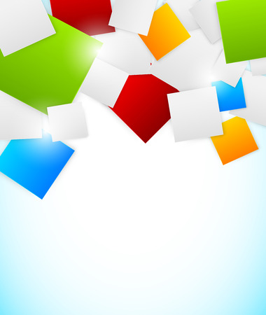 blank poster: Abstract colorful background with squares