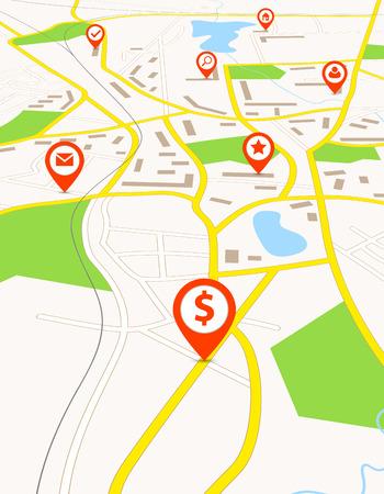 赤印のナビゲーション マップ