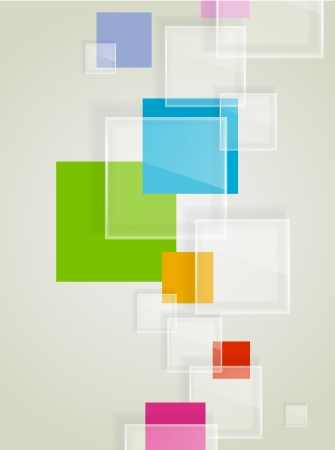 Abstract background with transparent squares Illustration