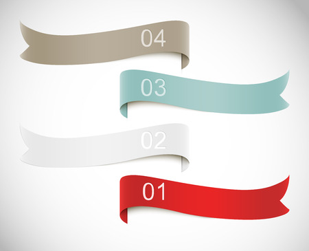 corner tab: Set of banners. Infographic design