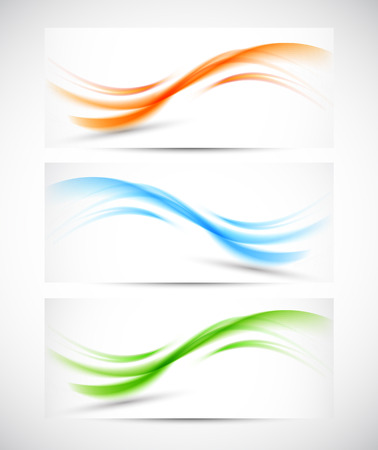 Set of wavy banners. Abstract illustration Stock Vector - 22244409