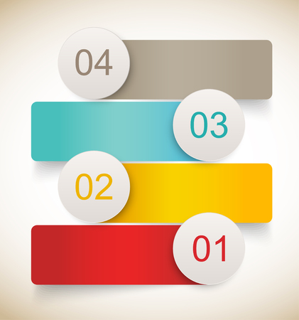 Set of banners. Infographic numbered design Stock Vector - 22575555