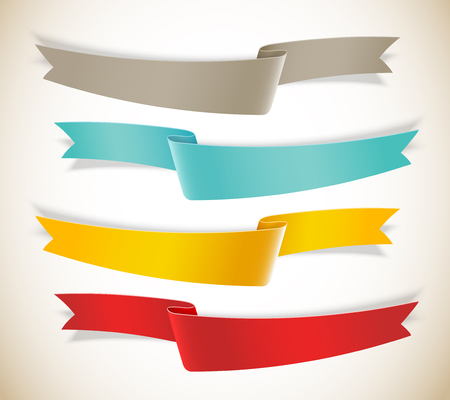 Set of ribbons. Infographic design