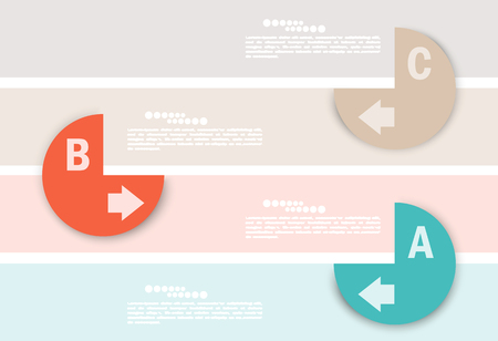 Set of abstract banners. Infographic design template Stock Vector - 22575559