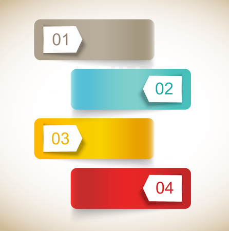 Set of numbered banners. Infographic design Stock Vector - 22575563