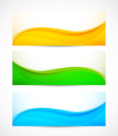 Set of wavy banners. Abstract illustration Stock Vector - 22575565