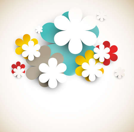 circle shape: Background with abstract flowers