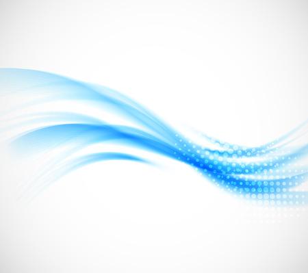 푸른 색에 추상 물결 모양 배경