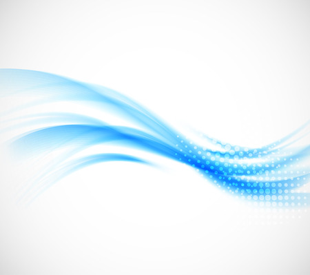 air: Abstract wavy background in blue color