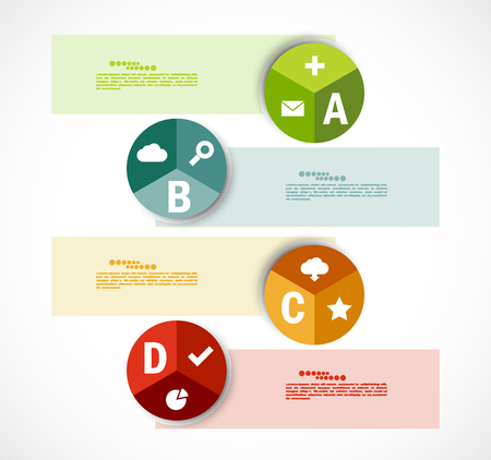 Set of banners. Infographic design Vector
