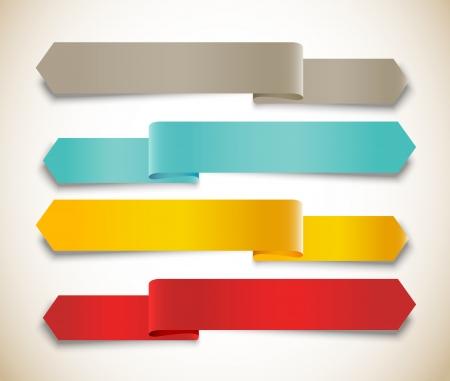 feedback label: Set of ribbons Illustration