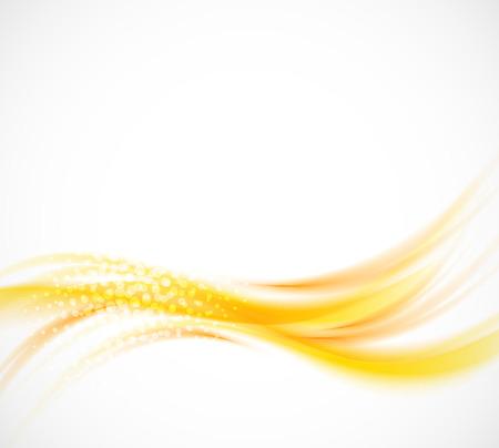 ウェーブのかかったオレンジ色の背景。抽象的なイラスト
